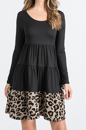A Tiered Loose Fit Shift Dress