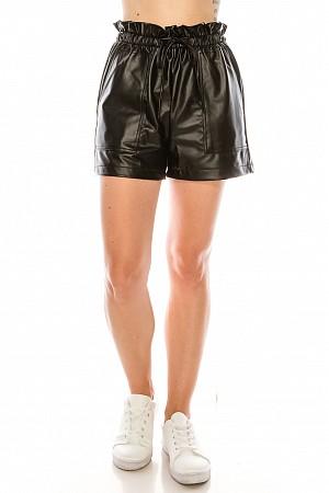 Leather pu shorts