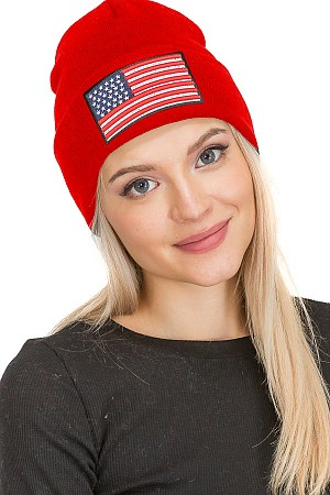 American Flag Embroidered Ribb ...