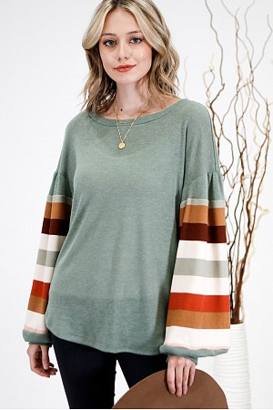 Striped Two Toned Top